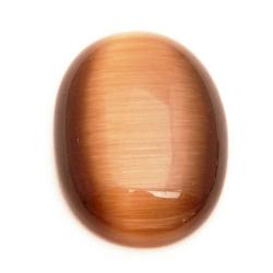 Cabochon, ovaal, catseye bruin, 30 x 22 mm (1 st.)